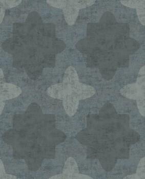 55-388743 Vliestapete Petrol blau grafisches Muster Eijffinger Lounge