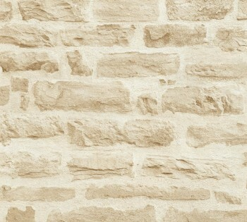AS Creation Best of Wood'n Stone 35580-2 sand Mauer-Optik Vlies-Tapete