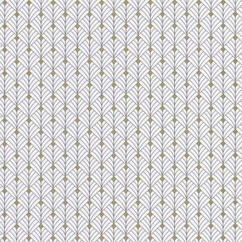 Texdecor Caselio - Scarlett 36-SRL100439025 grafisches Muster weiß Vliestapete