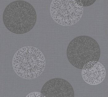 Vliestapete AS Creation Happy Spring 8-34771-3 Kreise dunkel-grau