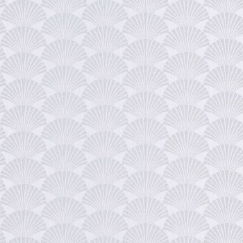 36-SRL100490198 Caselio - Scarlett Texdecor Vliestapete Muscheln weiß silber