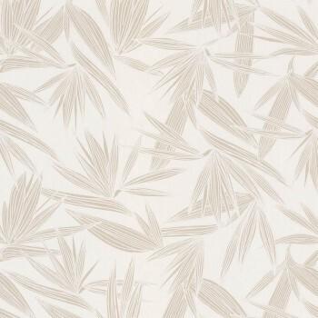 Tapete tropische Blätter beige Casamance - Portfolio 48-73960140