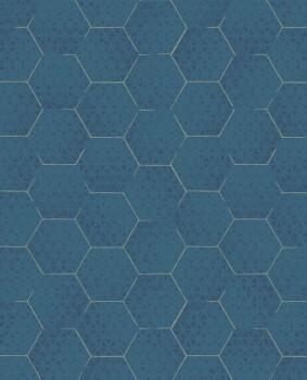 55-386582 Eijffinger Enso Vliestapete grafisches Muster petrol