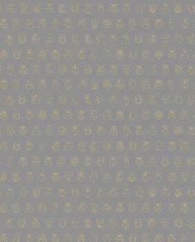 Eijffinger PIP Studio 55-375037, Vliestapete grau goldene Marienkäfer