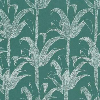 Palmenblätter Tapete Grün Silber Tenue de Ville SPICE 62-SPI230102