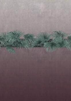 Dunkelrot Grau Wandbild Pflanzen 62-ODED190712 Tenue de Ville ODE