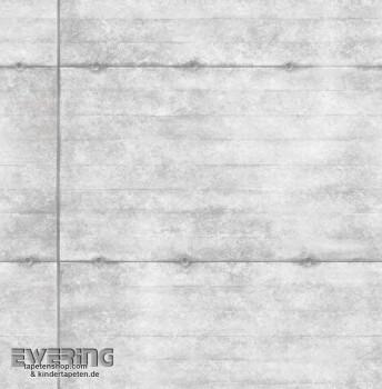 Rasch Textil Reclaimed 23-022314 Stahlplatten grau Vliestapete