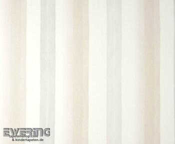 Texdecor Casadeco - Marina 36-MRN25221006 sandgrau Stoff Streifen
