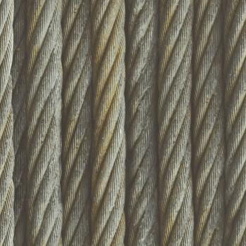 Factory 3 Rasch 7-939903 Seile Vliestapete Flur grau glatt