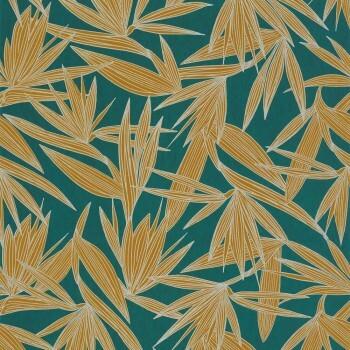 Tapete Dunkelgrün tropisch Casamance - Portfolio 48-73960548