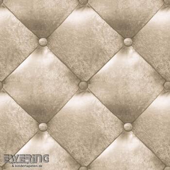 36-MTE65621020 Caselio - Metaphore Tapeten beige Polster-Optik