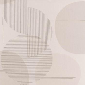 Tapete beige Kreise grafisch Casadeco - Vision 36-VISI83671404
