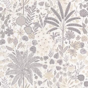 Caselio - Hygge 36-HYG100591119 Blumenmuster beige Vliestapete