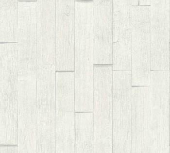 35584-2 Vliestapete Best of Wood'n Stone AS Creation weiß-grau Holzlatten