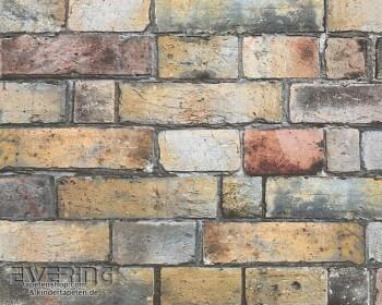 AS Creation Authentic Walls 8-30256-1, 302561 grau-braun Vlies Steinmauer