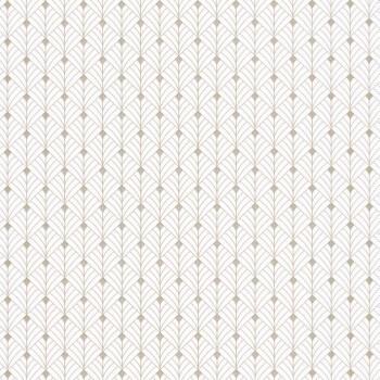 36-SRL100430110 Caselio - Scarlett Texdecor Mustertapete Vliesträger weiß gold