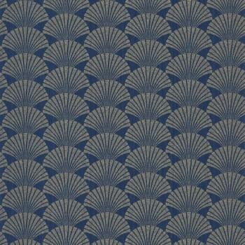 Caselio - Scarlett 36-SRL100496025 Texdecor Vliestapete blau Muscheln gold