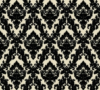 Velourtapete AS Creation Castello 33582-6 schwarz-creme kleine Ornamente