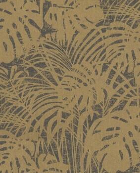 Eijffinger Reflect 55-378010 gold schwarz glänzend Vliestapete Blätter