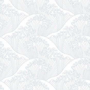 Wellen Weiß Vliestapete