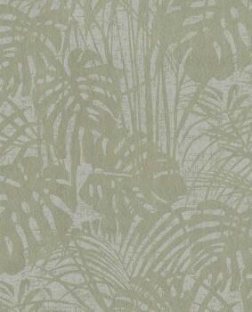Reflect Eijffinger 55-378011 Vlies Tapete oliv-grün glänzend Blätter