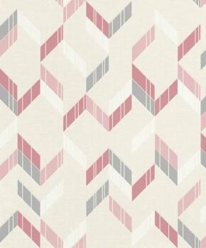 Muster-Tapete Glitzer Beige Pink Wohnzimmer