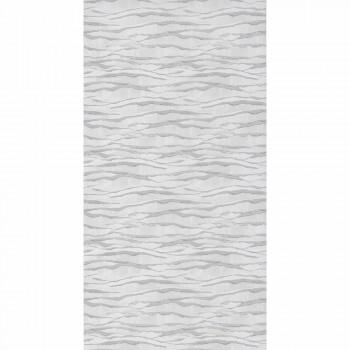 Silber Grau Wellentapete