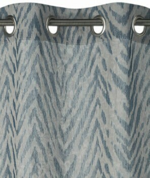 Rasch home 45-199159 Fertigdeko Ösen blau blickdicht Zebra