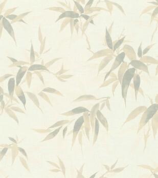 Vliestapete Beige-Blätter Rasch Kimono 409741