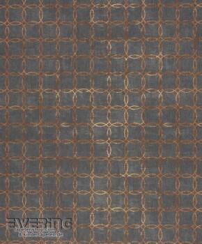Texdecor Casadeco - Majestic 36-MAJ26399130 Kreise schwarz-braun