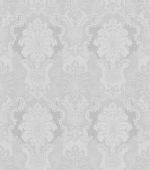 7-802443 Ylvie Rasch Tapete Ornamente hell-grau glänzend Wohnzimmer