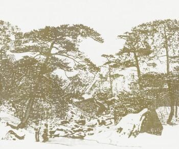 Ocker Wald-Muster Wandbild Tenue de Ville SAUDADE 62-SAUD211304