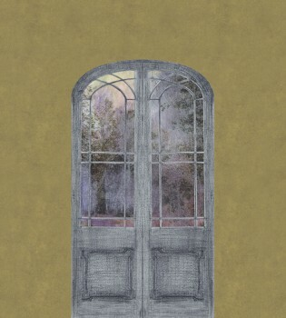 Grün Tür Natur Wandbild Tenue de Ville ODE 62-ODED191308