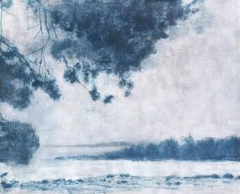 Blau Aussicht Natur Wandbild Baum Tenue de Ville ODE 62-ODED190115