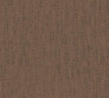 AS Creation Saffiano 33984-9, 339849 Uni meliert erd-braun Vlies Tapete