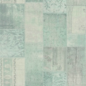 Rasch Textil Boho Chic 23-148330 Vliestapete kariert turmalingrün