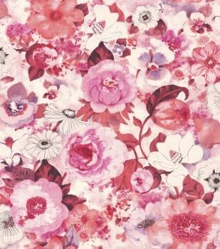 Lucy in the Sky 7-803556 Rasch Vliestapete pink Blüten
