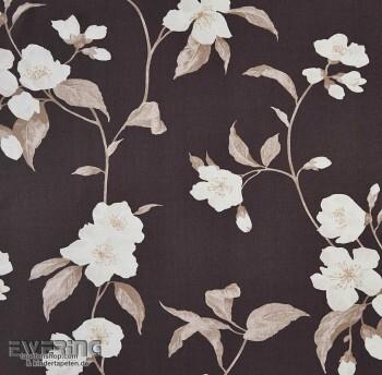 36-INF24889502 Casadeco Infinity Deko-Stoff Blüten anthrazit-grau