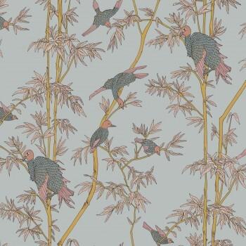 Grau Wandbild Bambusbaum Vögel Tenue de Ville SPICE 62-SPID230826