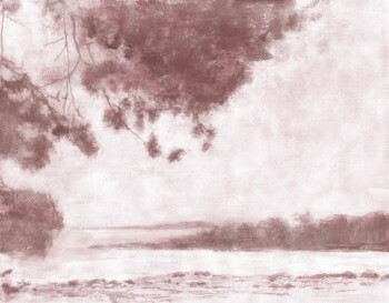 Natur Wandbild Baum See Altrosa 62-ODED190112 Tenue de Ville ODE