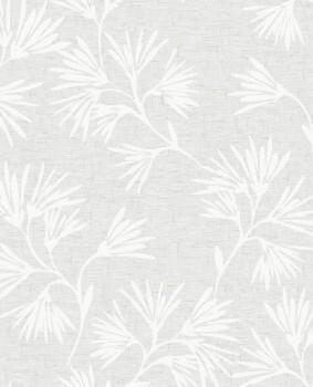 55-386550 Eijffinger Enso Vliestapete Blumen silber