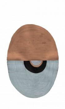 Wandbild Bronze Silber Oval 62-SAUD211613 Tenue de Ville SAUDADE