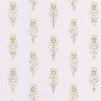 Texdecor Caselio - Scarlett 36-SRL100461020 Federn gold Vliestapete beige