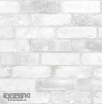 23-022321 Reclaimed Rasch Textil Steinmauer Vliestapete weiß