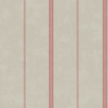 Vliestapete Caselio - Bon Appetit 36-BAP68398080 grau-rot gestreift