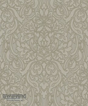 23-078113 Liaison Rasch Textil taupe Damast-Ornament Textiltapete