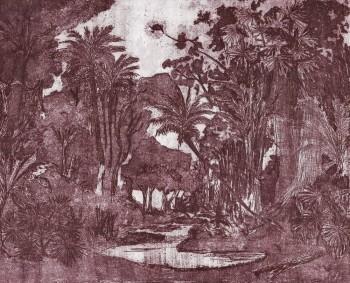 Wandbild Dschungel Natur Violett Tenue de Ville ODE 62-ODED191412