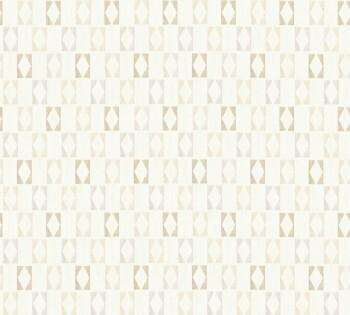Vliestapete AS Creation Björn 35118-3, 351183 beige-grau Rauten