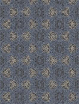 Eijffinger Siroc 55-376093 Wandbild Vlies blau glänzend Blumen