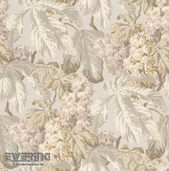 Rasch Textil Cassata 23-256504 Vliestapete Blätter hell-grau